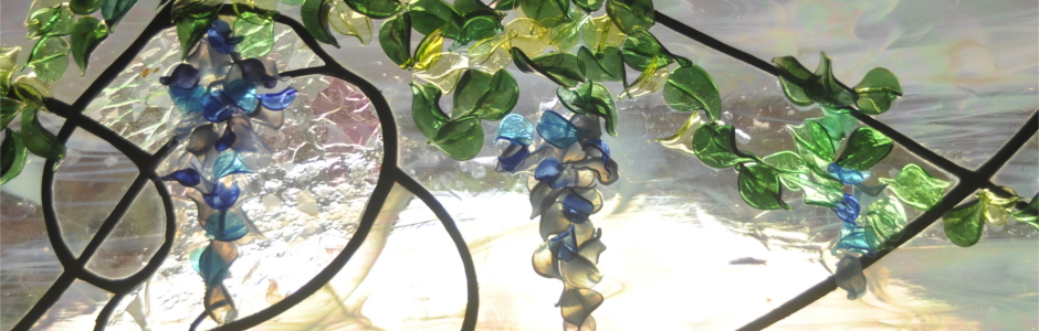 Contemporary Art Glass Flameworked Wisteria 01