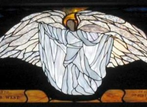 Stained Glass Angel Episcopal Church ©Cain Art Glass 2016, All Rights Reserved