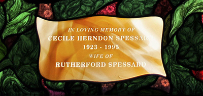 Stained Glass Memorial Plaque ©Cain Art Glass 2016, All Rights Reserved