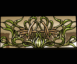 Art Nouveau Beveled Stained Glass Window 03 Virginia