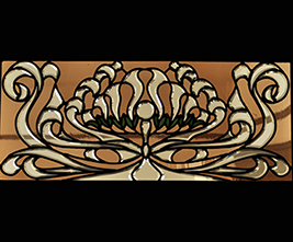 Art Nouveau Beveled Stained Glass Window 05 Virginia