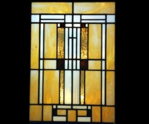 Prairie Style Stained Glass Window 01
