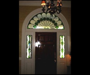 Traditional Stained Glass Transom Entryway 01