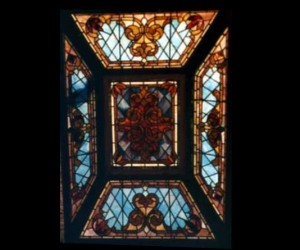 Antique Stained Glass Skylight Restoration 01