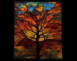 Contemporary Stained Glass Window Tree - Washington DC ©Cain Art Glass 2016, All Rights Reserved