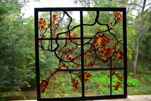 Stained Glass Tree Sculpted Solder and Flameworking
