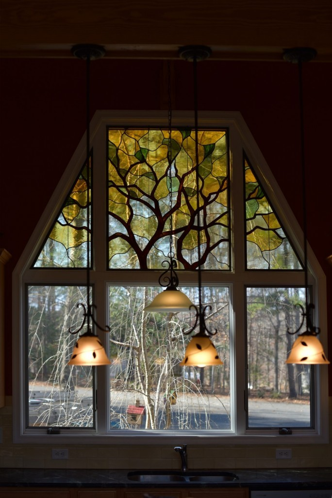 Leaded Stained Glass Tree ©Cain Art Glass 2016, All Rights Reserved