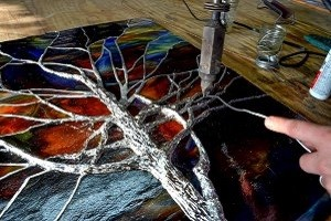 Sculpturing Stained Glass - ©Cain INC
