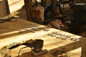 Cain Inc. Fleurs De Lis Lead Casting Stained Glass Metal Accents