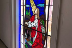 Cain Inc. Northside Baptist Church Stained Glass Sacred Religous Restoration Protective Covering 8