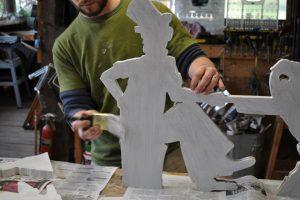Cain Inc. Wayne Cain Daniel White Billy Ireland Weathervane Painting wood primer