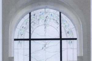 Chapel Cain Inc. Wayne Cain Drawing Sketch Design Stained Glass Window Art Glass Religous Sacred