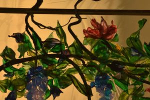 Contemporary Stained Glass Window Wisteria - Washington DC Cain Art Glass (2)