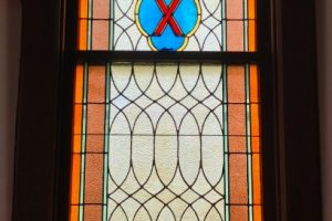 Monterey United MEthodist Church Stained Glass Art Glass Restoration Tempered Glass Protective Covering