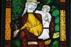 Painted Stained Glass Madonna and Child ©Cain Art Glass 2016, All Rights Reserved