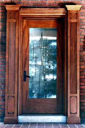 Contemporary Beveled Glass Door ©Cain Art Glass 2016, All Rights Reserved