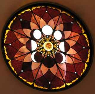 Stained Glass Lunar Cycle Window ©Cain Art Glass 2016, All Rights Reserved