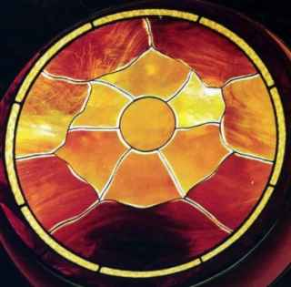 Leaded Glass Sunset - Richmond, VA ©Cain Art Glass 2016, All Rights Reserved