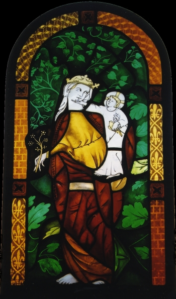 Madonna and Child Stained Glass ©Cain Art Glass 2016, All Rights Reserved