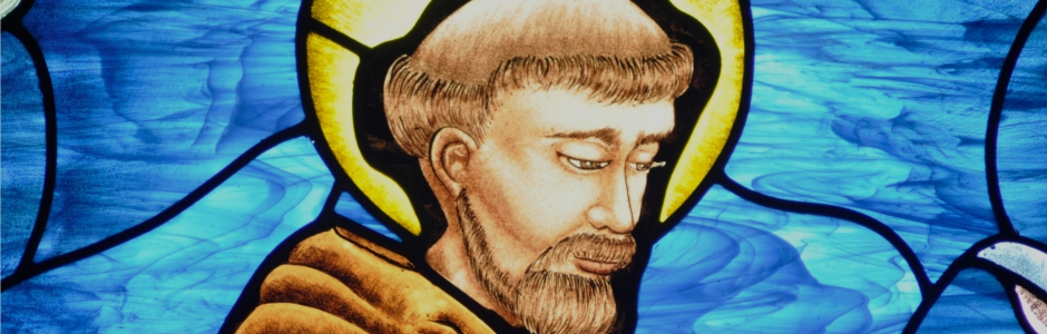 Painted Stained Glass St. Francis of Assisi Grace Episcopal Church Bremo Bluff Virginia