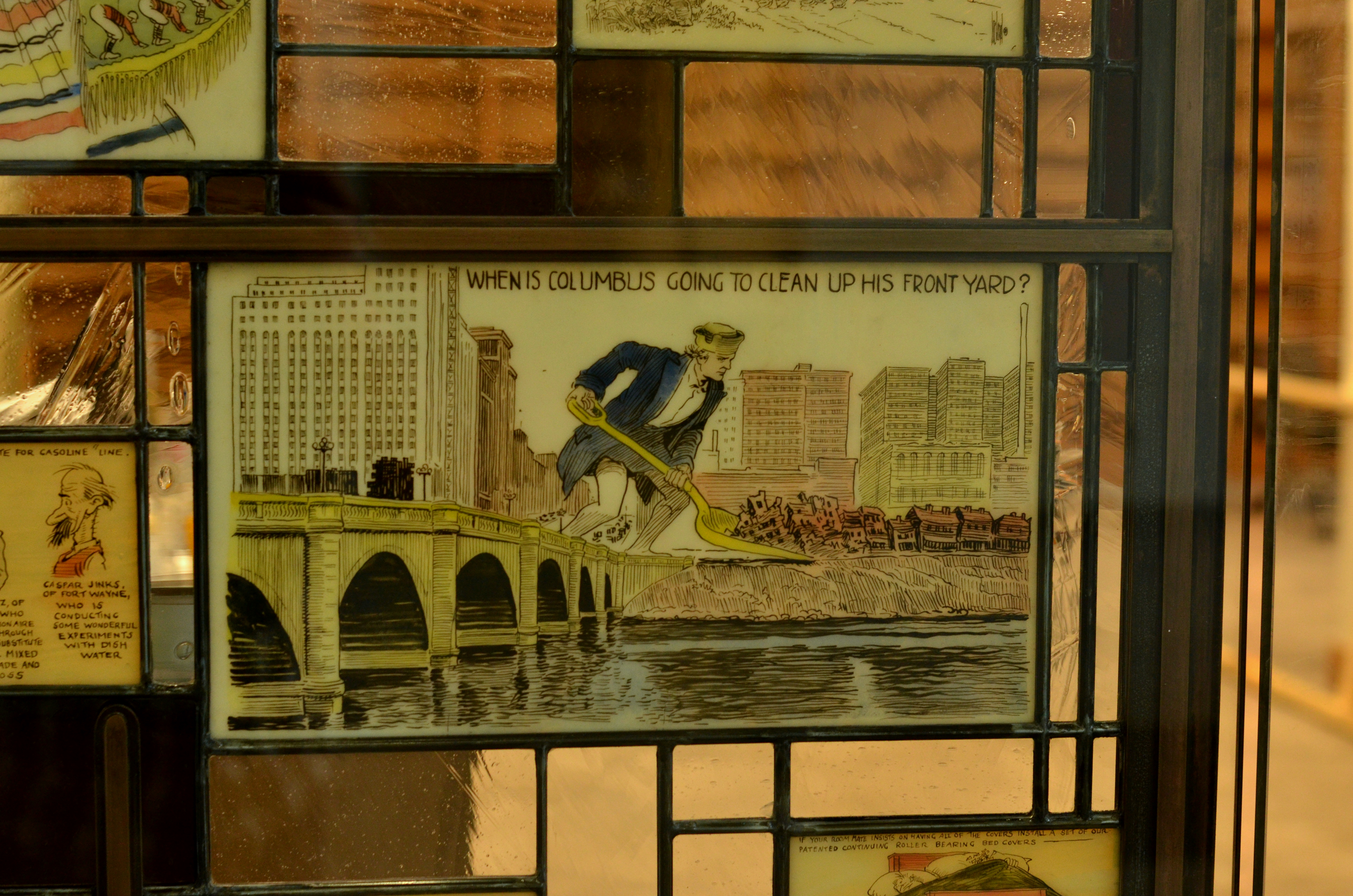 Billy Ireland Museum Stained Glass Reading Room Detail