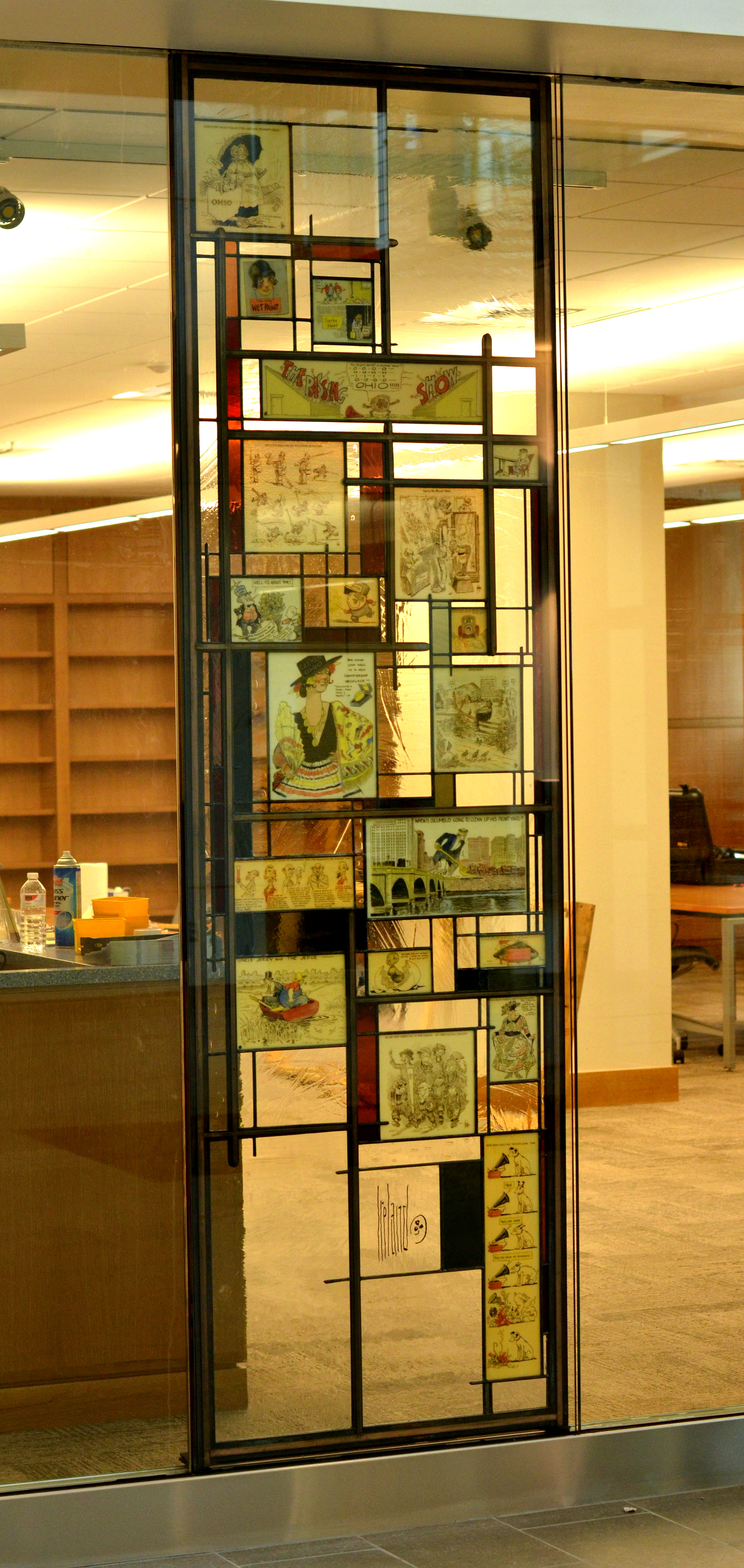 Billy Ireland Museum Stained Glass Reading Room