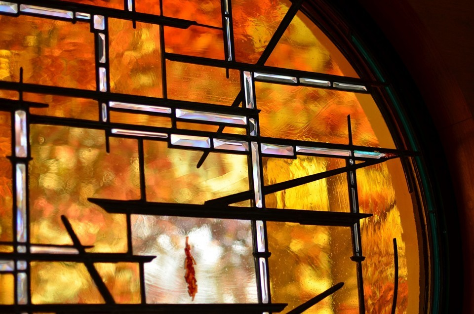 Stained Glass Detail Unitarian Universalist Chalice