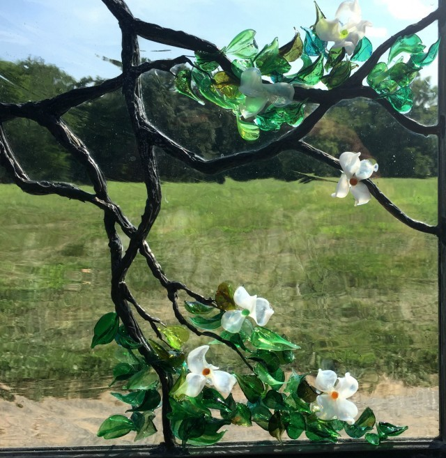 Stained Glass Dogwood Cain Art Glass 02