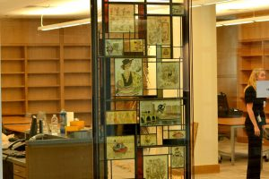 Billy Ireland Cartoon Library Museum Wayne Cain Inc. Art Glass