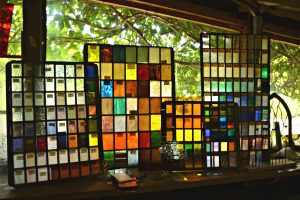 Cain Inc. Colored Glass Samples Selection Art Glass Stained Glass
