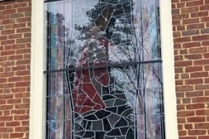 Cain Inc. Northside Baptist Church Stained Glass Sacred Religous Restoration Protective Covering 2