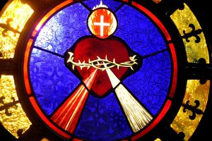 Cain Inc. Painted Glass Daniel White Stained Glass Sacred Heart of Jesus Divine