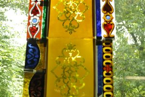 Cain Inc. Painted Glass Silver Stained Stained Glass Art Glass Daniel White Color Selection