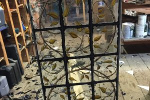 Cain Inc. Putty Stained Glass Window Painted Glass Leaded Glass Art Glass Daniel White Grasshoppwer