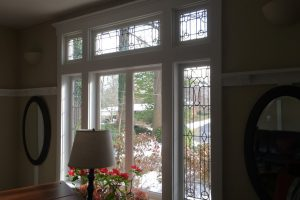 Cain Inc. Restored REstoring Leaded Glass Stained Glass Art Glass Sidelights Transom