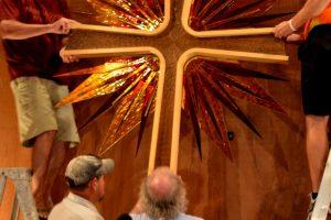 Cain Inc. St Johns Lutheran Church Wayne Cain Glass Cross