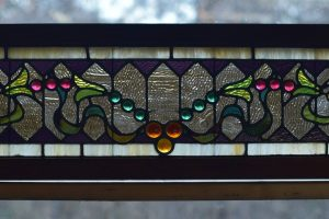 Cain Inc. Stained Glass Art Glass Beveled Transom