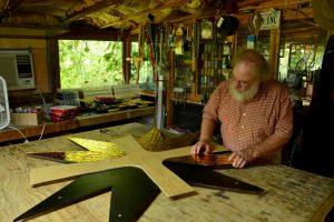 Cain Inc. Wayne Cain Assembling Art Glass