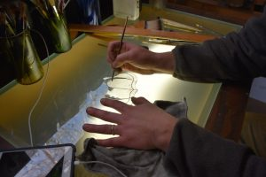 Cain Inc. Wayne Cain Daniel White Painting Painted Glass