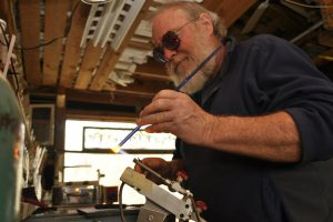 Cain Inc. Wayne Cain Flameworking Lampworking Petals Leaves glass stained glass art glass contemporary