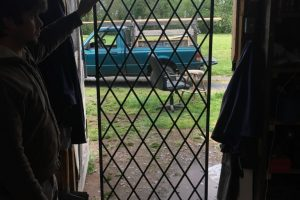 Cain Inc. Wayne Cain Leaded Glass Transom Door