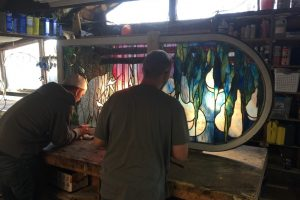 Cain Inc. Will White Stained Glass Restoration Art Glass Tiffany Style Contemporary