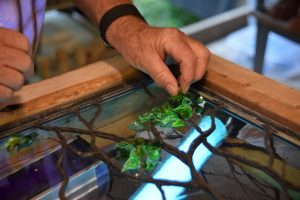 CainArtGlass_3803 (Medium) flameworking glass leaves lampworking uv glue bohle solder sculpturing dogwood