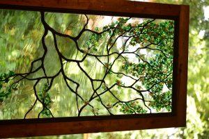 CainArtGlass_3830 (Medium) flameworking glass leaves solder sculpturing dogwood