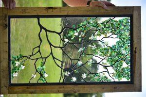 CainArtGlass_3860 (Medium) flameworking glass leaves solder sculpturing dogwood flowers glass petals
