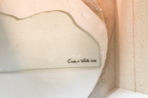 CainInc-165 Painted Glass Kiln Fired Wayne Cain Daniel White
