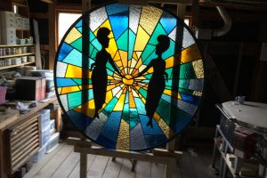 Mellow Mushroom Stained Glass Art Glass Richmond VA Wayne Cain Inc.