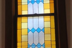 Monterey United Methodist Church Cain Inc. Stained Glass Art Glass Protective Covering Restoration Tempered Glass