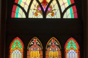 Monterey United Methodist Church Cain Inc. Stained Glass Art Glass Restoration Church Repair Protective Covering Temepered Glass