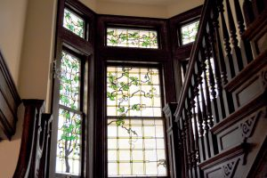 Stained Glass Morning Glory Window Repair